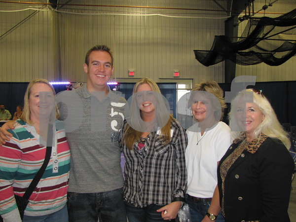 Lori Algoe, Matt Reetz, Ashley Pingel, Kathy Pingel, and Leslie Reetz attended The Messenger's Bridal Show held at the Career Ed building on the ICCC campus.