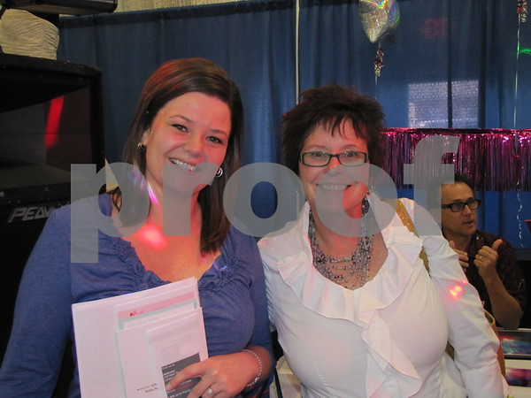Bride-to-be Teal Hulsebus and her mother Kathy Hulsebus attended The Messenger's Bridal Show on the ICCC campus.