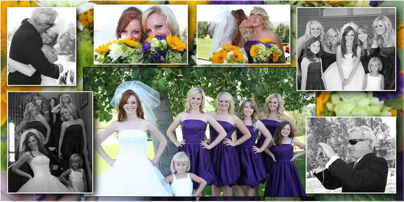 Hilary Watson Moore and bride's maids at Apple Tree Golf Course