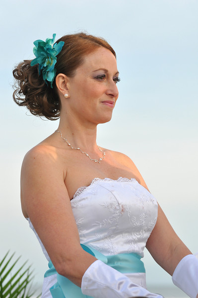 Bryce Lafoon Photography captures a beautiful bride during her wedding at Sunset Beach, NC.