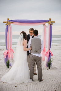 Sunset Beach Wedding Treasure Island Florida