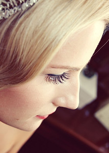 Lovely long eye lashes that this bride had at her wedding at The Fennes