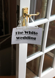 Getting ready for a wedding at a brides parents home