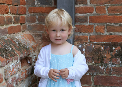 A sweet little girl at a wedding at Spains Hall