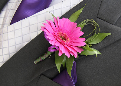 The grooms buttonhole at a wedding at Spains Hall