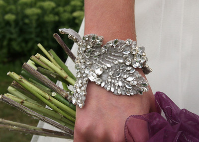 A beautiful vintage bracelet a bride wore at her wedding at The Fennes