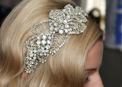 A lovely vintage headpiece worn by a bride whose wedding took place at The Fennes