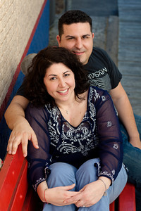 Tania and Nick's engagement session at Chuy's and Ecclesia in Houston on March 20, 2011