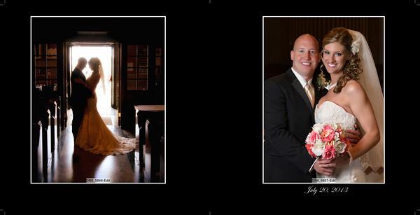 Tera and Paul 10x10 Heirloom Wedding Album 4 001 (Sides 1-2)