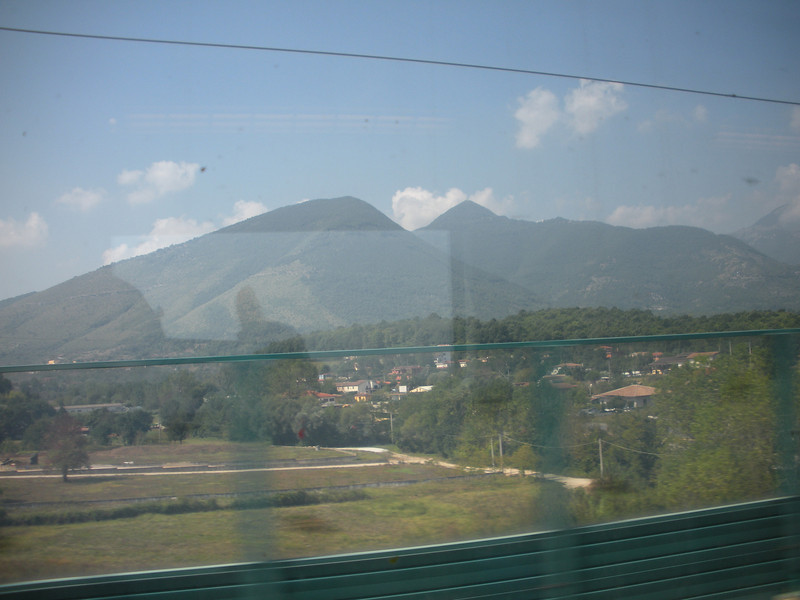 On the Eurostar express from Florence to Naples (stopover in Rome Termini)