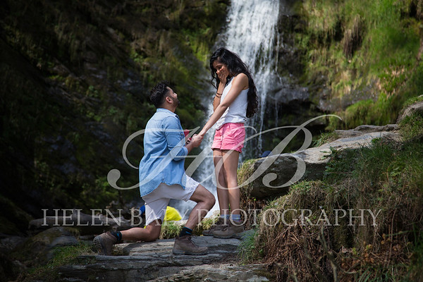 The Proposal !  Chandra & Kirti, Pistyll Rhaeadr Waterfall, April 2019