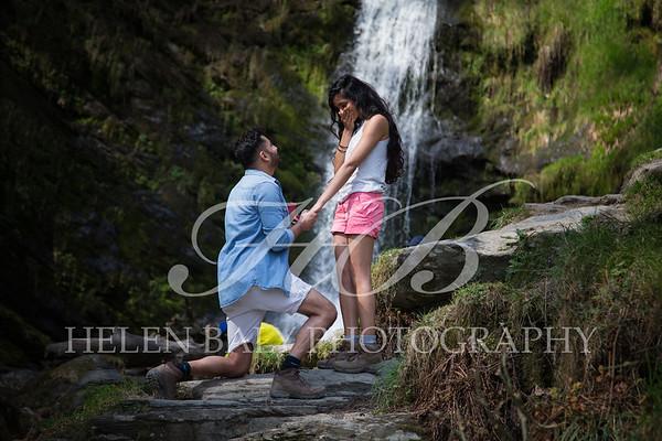 The Proposal !  Chandra & Kirti, Pistyll Rhaeadr Waterfall, April 2019