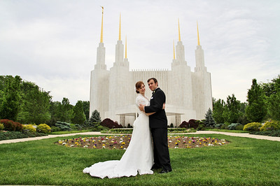 Emily Harkness and Trevor Fenn married for Time and all Eternity, May 4, 2012.