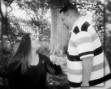 12 Tiffany & Dave Engagement Sept 2010 (10x8) softfocus indian summer b&w