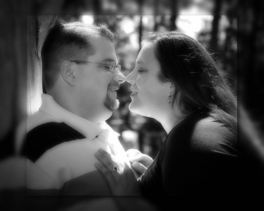 17 Tiffany & Dave Engagement Sept 2010 (10x8) softfocus b&w