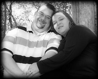 10 Tiffany & Dave Engagement Sept 2010 (10x8) tight softfocus b&w