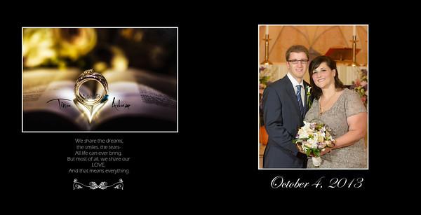 Tina and Adam 10x10 Heirloom Wedding Album 2 001 (Sides 1-2)