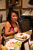 Mary on her 3rd or 4th plate at the Luxor Buffet.