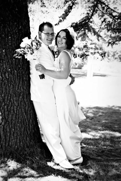 Tom and Shana Black and White