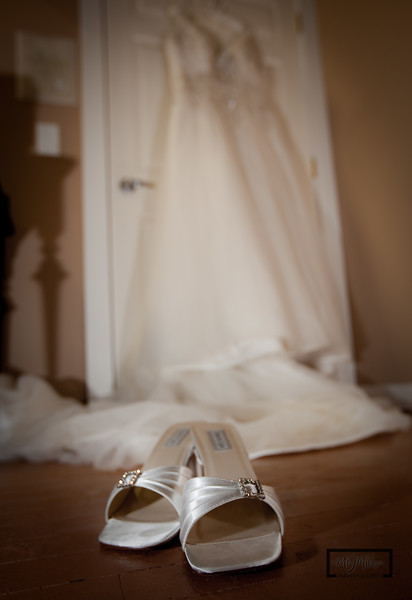 "Shoes and Wedding dress  <I><font size=1 color=""#2180de"">© Copyright m2 Photography - Michael J. Mikkelson 2009. All Rights Reserved. Images can not be used without permission.</font></I>"