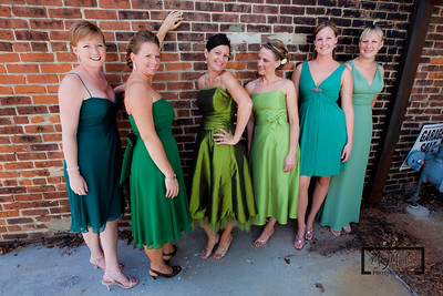 Bridesmaids, in Urban and dangerous Janesville, Wisconsin.  © Copyright m2 Photography - Michael J. Mikkelson 2009. All Rights Reserved. Images can not be used without permission.