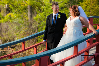The Bride and Groom at Rotary Gardens  © Copyright m2 Photography - Michael J. Mikkelson 2009. All Rights Reserved. Images can not be used without permission.