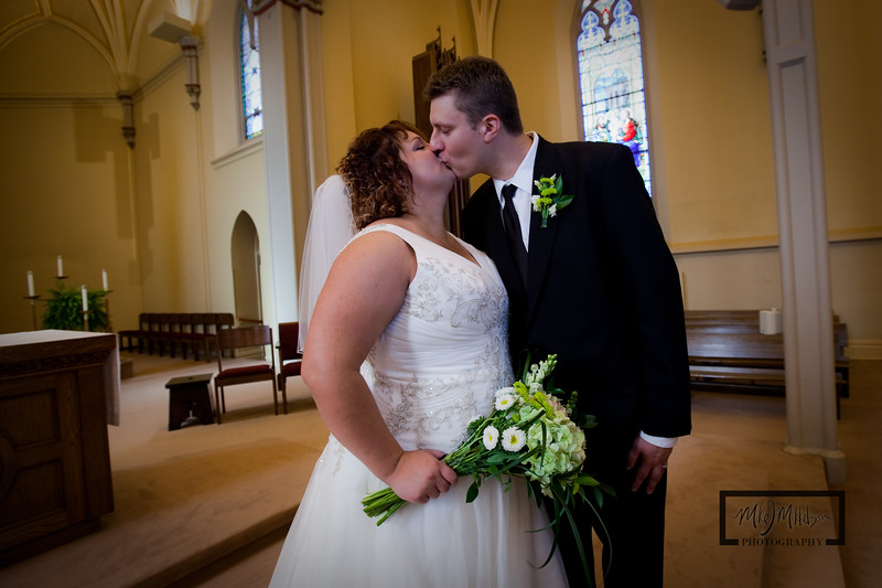 """The Bride and Groom at St. Mary's Church  <I><font size=1 color=""""#2180de"""">© Copyright m2 Photography - Michael J. Mikkelson 2009. All Rights Reserved. Images can not be used without permission.</font></I>"""