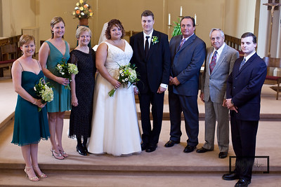 Group photos of the Tomasik Wedding  © Copyright m2 Photography - Michael J. Mikkelson 2009. All Rights Reserved. Images can not be used without permission.  Wedding, Janesville, Church, Tomasik, Emily, Matt, Bride, Groom, Photographer, Photography, m2, Michael J. Mikkelson