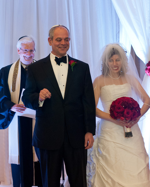 Tony Pisarra and Trish Weiler.  They were married by Rabbi Stan Levin.