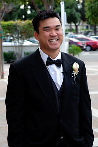 """This is Trung seeing his BEAUTIFUL bride for the first time in her gown.  He was so happy to see her.  His exact words were """"You're Beautiful""""."""