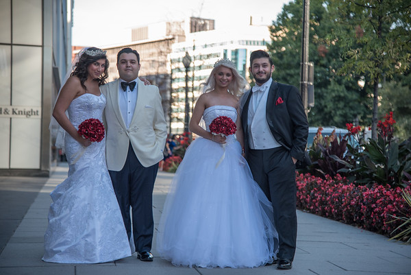 Twins Wedding Portraits. Photo by Ben Droz