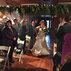 Erin dancing down the aisle