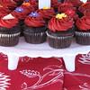 Cupcakes as the wedding cake.