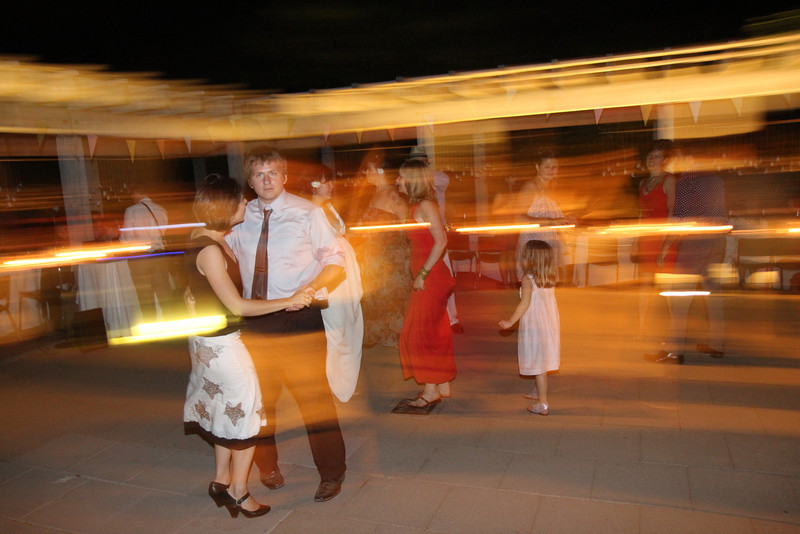 Caught in the headlights of action...wedding dancers.