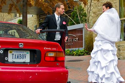 Meeting the groom