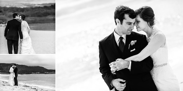 Bride and Groom Formal Portraits on the Beach