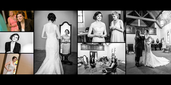 Bride Getting Ready | Putting on Dress