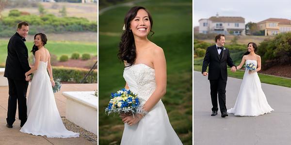 Best wedding photos taken at Crystal and Erin's wedding at The Bridges Golf Club in San Ramon, California.