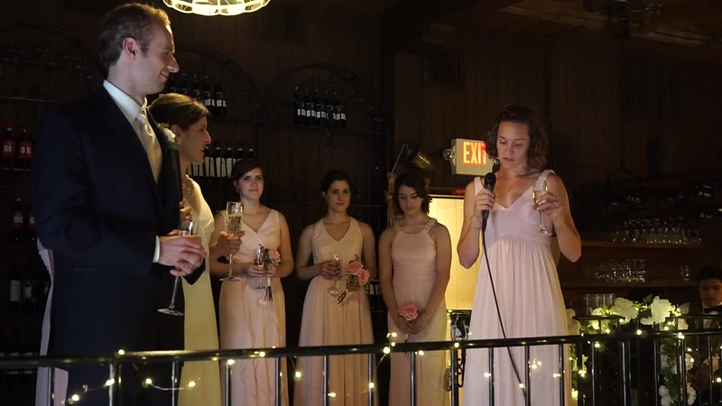 Toast by Matron of Honor