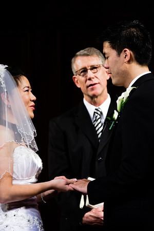 Rings, signifying the unbroken bond of marriage, are exchanged during the ceremony.