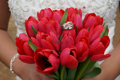 Red Tulip Bridal Bouquet