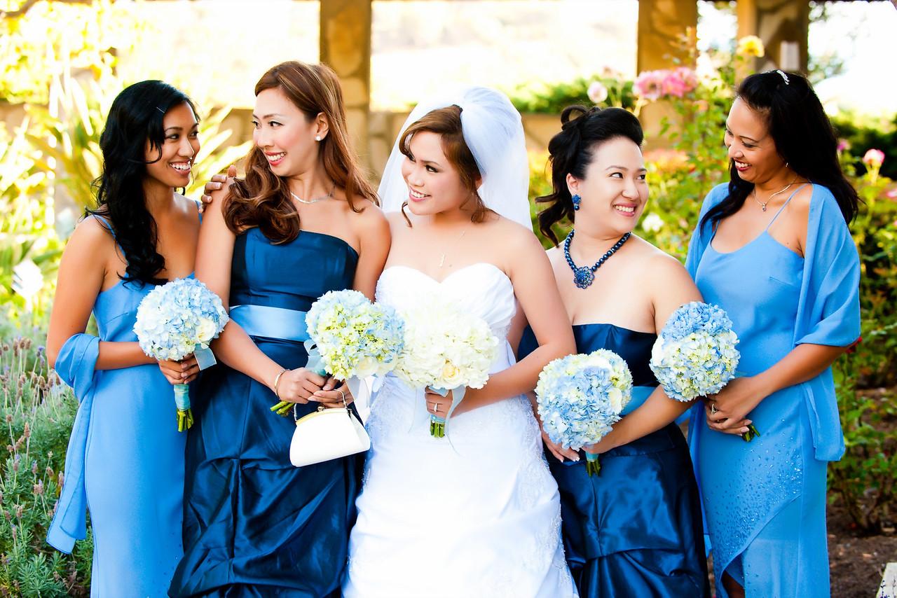 Wayfarers Chapel bridesmaid