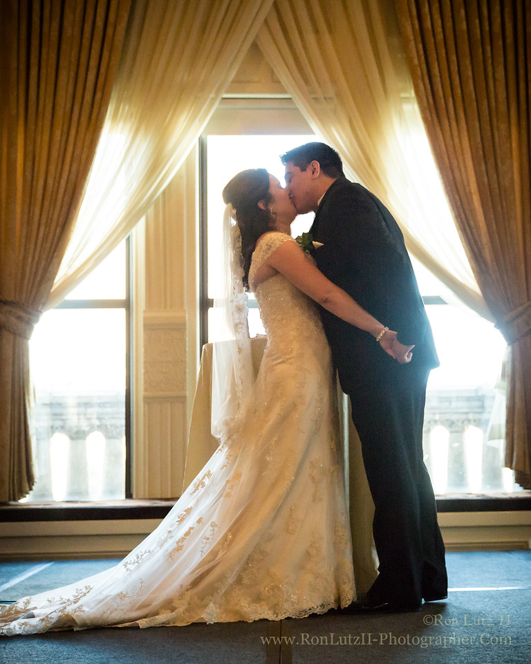 First Kiss at the Pfister Hotel