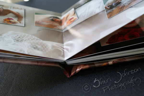 "Lay Flat flushmount wedding album with metallic photo cover and metallic panoramic spreads - this type of book would make a great ""coffee table book"""