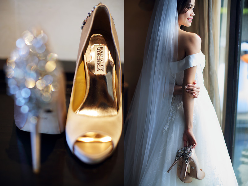 wedding shoes details