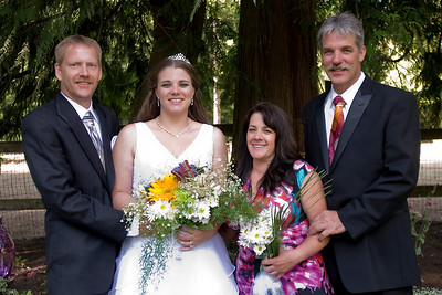 Christie's and Chris' wedding at her mom's farm.