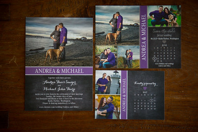 Andrea and Michael Tharp Wedding Proofs