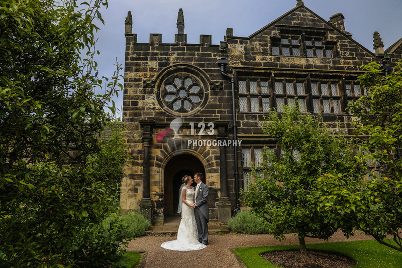 Laura and Scott's wedding photography East Riddlesden Hall