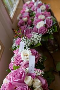 The brides and bridesmaids bouquet