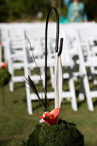 Flowers and chairs before the ceremony